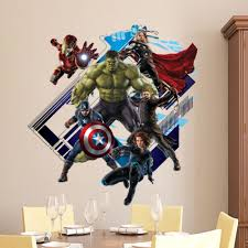 compare prices on wall mural avengers online shopping buy low wholesale 10pcs lot new avengers super hero iron man green hulk wall decal sticker boys