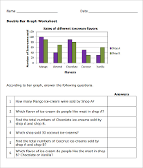 double bar graph worksheet free worksheets library download and