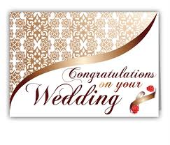 wedding greetings greeting card personalized greetings to congratulate on wedding