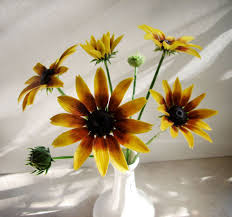 Sunflower Home Decor by Flower Bunch Coneflower Floral Polymer Clay Cold Porcelain Home Decor