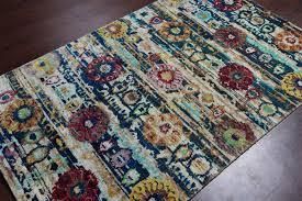 Sari Silk Rugs by Rugsville Ikat Multi Sari Silk 30010 4x6 Rug Rugsville Shopping