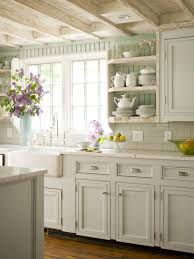 kitchen wall cabinets cheap farmhouse decor built in sink cooktop gray tile floor square