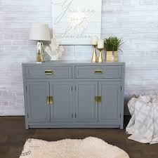 Thomasville Bedroom Furniture Hardware Thomasville Buffet Painted In Grey Lacquer Vintage Refined