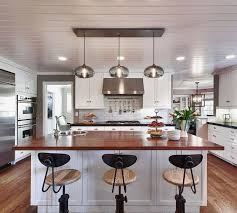 High End Kitchen Island Lighting Kitchen Island Pendant Lighting In A Cozy California Ranch