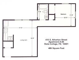 one bedroom apartments state college pa state college pa floor plan of the 1 bedroom student apartment