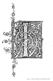 illuminated manuscript letters i printable alphabet letter