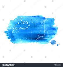 watercolor texture sea vector blue card stock vector 271426247