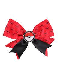 cool hair bows pokeball cheer bow hot topic