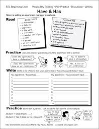 esl worksheets lesson plans 2 alta english advanced have and