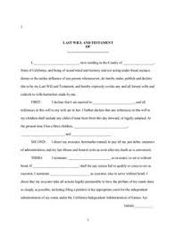 template wills last will and testament template free printable form 8ws