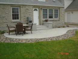 Patio Layout Design Backyard Backyard Sted Concrete Patio Ideas Sunroom Home