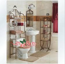 Wrought Iron Bathroom Furniture Marvelous Wrought Iron Bathroom Shelf With Bathroom Wrought Iron