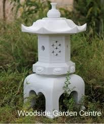 marble resin garden white pagoda garden ornament woodside garden