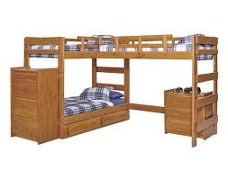 Bunk Beds L Shaped Woodcrest Heartland L Shaped Bunk Bed Lb6200 Honey Pine