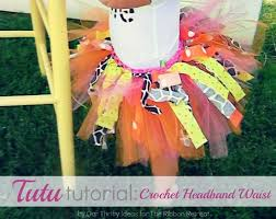 tutu tutorial crochet headband waist the ribbon retreat