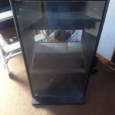 Stereo Cabinet Glass Door Find More Black Stereo Cabinet Top Lifts Open For Access Fro T
