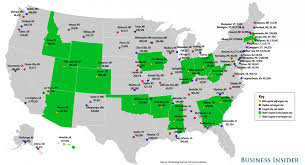 cities map state capitals largest cities map business insider