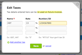 how do i add taxes on my invoices freshbooks