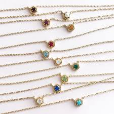 birthstone necklace mini birthstone necklace imsmistyle