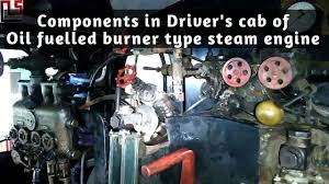 components in driver u0027s cab of oil burner type steam locomotive