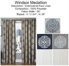 windsor medallion curtain drapery panels bestwindowtreatments com