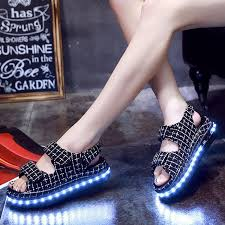 ladies light up shoes 2016 new arrive dropshipping light up sandal for girls fashion