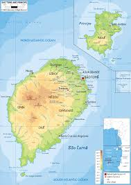 Africa Geographical Map by Sao Tome And Principe Map