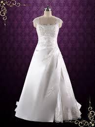 a line lace wedding dress with keyhole corset back sue ieie bridal