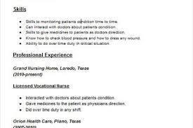 Example Lpn Resume by Skilled Nursing Lvn Resume With Experience Reentrycorps