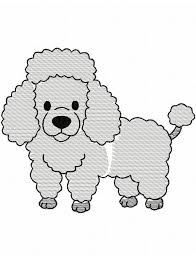 poodle sketch embroidery design dog sketch embroidery design