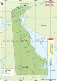 Blank Physical Map Of Europe by Physical Map Of Delaware Delaware Physical Map