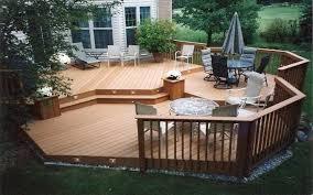 Backyard Wood Deck Comtemporary 10 Backyard Deck Ideas On Cool Patio Ideas For Small
