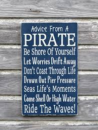 nautical nursery sign kids pirate room decor beach bedroom wall