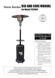 87 Patio Heater by Sure Heat T87phlp Patio Heater User Manual 22 Pages
