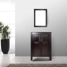 24 Bathroom Vanity With Drawers 24 Bathroom Vanity Cabinet Top Vessel Sink Single Basin W Mirror
