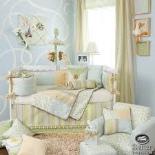 Blue Nursery Bedding Sets by The Original Whitegrey Crib Bedding Setswooden Swinging Cradle For