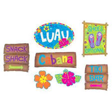 luau decorations luau sign cut out decorations hobby lobby 571422