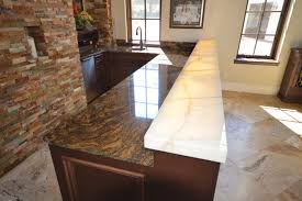 Different Type Of Countertops Kitchen Kinds Of Kitchen Countertops Countertop Mitered Edge Thick Profile