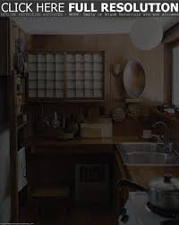 rustic japanese kitchen design ideas with double undermount sink