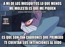 Mosquito Meme - mosquitos que susurran al oído cabras espartanas
