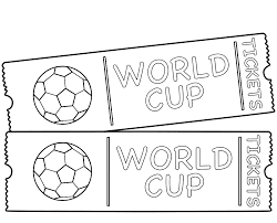 world cup game tickets coloring page world cup