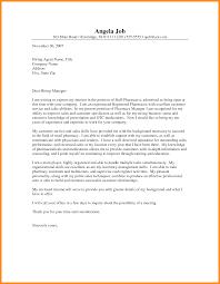 Pharmacy Manager Job Description Pharmacist Cover Letter Sample Resume Genius Inside Pharmacist