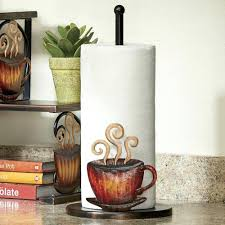themed paper towel holder coffee themed paper towel holder spinning k cup holder with an