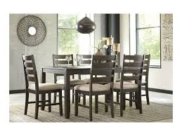 Ashley Dining Room Table Signature Design By Ashley Rokane Contemporary 7 Piece Dining Room