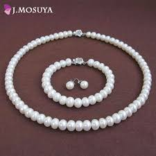 bracelet sets images 100 natural pearl jewelry sets for women 925 sterling silver jpg