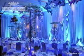 wedding backdrop blue venues