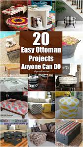Diy Ottomans 20 Fabulously Decorative Ottomans You Can Easily Make Yourself