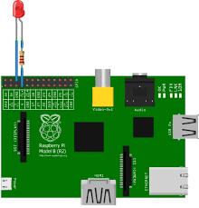 Led Blinking Circuit Diagram Led Blinking Using Raspberry Pi Python Program