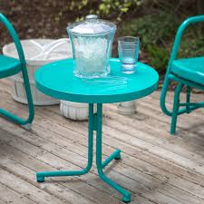 Griffith Metal Outdoor Furniture by Retro Patio Backyard U0026 Garden Hayneedle