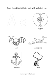 free english worksheets alphabet picture coloring megaworkbook